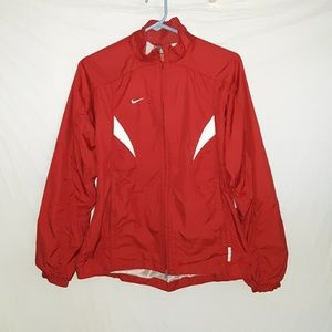 NIKE Girls Soccer Red Mess Lined Jacket Size M